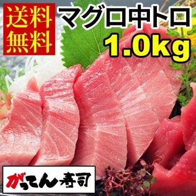 ミナミマグロ中トロ1.0kg(250g×4) 送料無料/刺身/まぐろ/南鮪/中トロ/赤身/ギフト/贈り物/がってん寿司