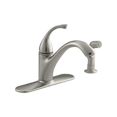 "KOHLER 10412-BN Forté(R) 4-Hole Sink 9-1/16"" spout, Matching Finish sidespr[並行輸入品]"