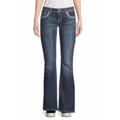 ミスミー レディース パンツ デニム Embellished Border Bootcut Jeans