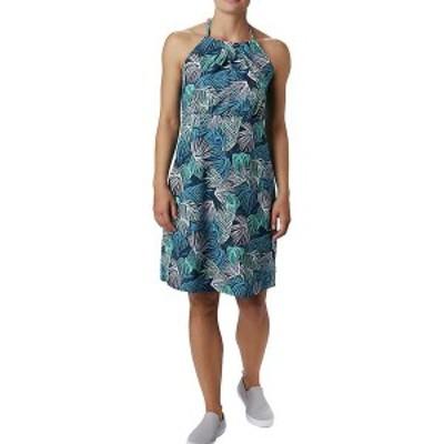 コロンビア レディース ワンピース トップス Columbia Women's Armadale II Halter Top Dress Dolphin Feathery Leaves Print
