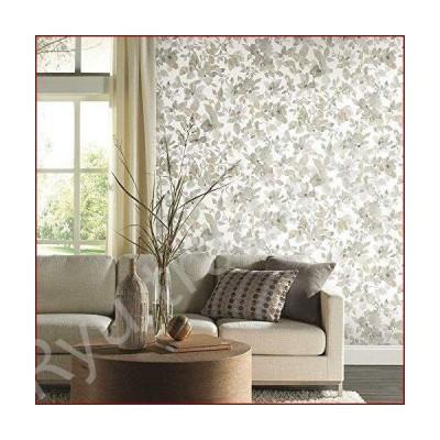 新品RoomMates Neutral Watercolor Floral Peel and Stick Wallpaper