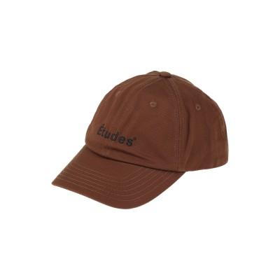 ÉTUDES 帽子 ブラウン one size コットン 100% 帽子