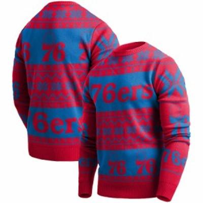 """メンズ セーター """"Philadelphia 76ers"""" Ugly Pullover Sweater - Red"""
