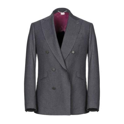 MAURIZIO MIRI テーラードジャケット ブルーグレー 48 ウール 100% テーラードジャケット