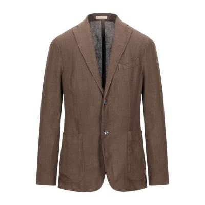 ボリオリ BOGLIOLI テーラードジャケット ブラウン 52 麻 100% テーラードジャケット