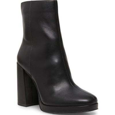 スティーブ マデン Steve Madden レディース ブーツ ブーティー シューズ・靴 Main Platform Booties Black Leather