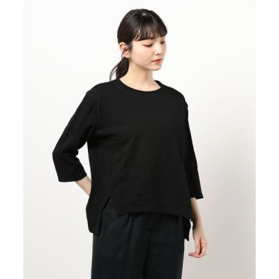 tシャツ Tシャツ 7分袖 スリットデザイン ビッグカットソー