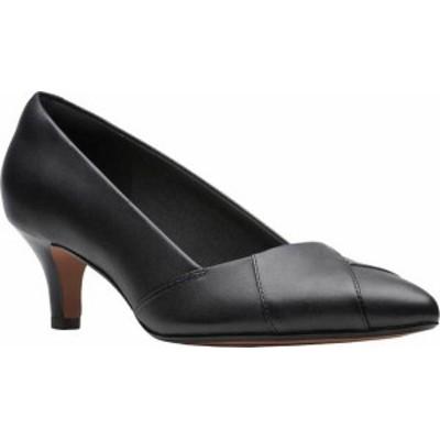 クラークス レディース パンプス シューズ Linvale Sage Pointed Toe Pump Black Leather