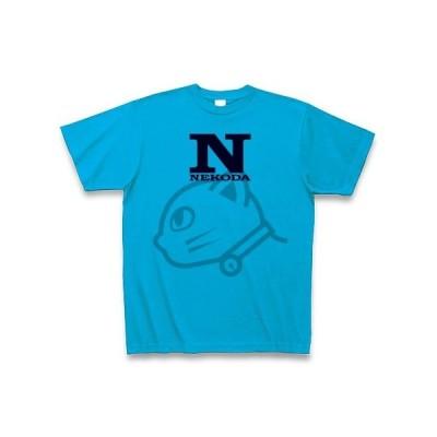 猫だロゴ(薄猫) Tシャツ(ターコイズ)