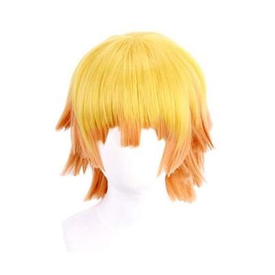 BASTA 鬼滅の刃 キャラクター 耐熱ウィッグ カツラ コスプレ 衣装 ヘアアレンジ (我妻善逸)