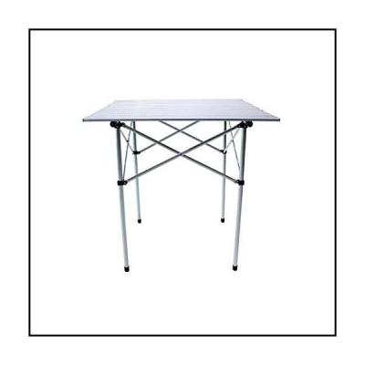 【新品】ZHONGQI Comfortable Tables Aluminum Roll Up Folding Portable Duty Dining Picnic Camping Outdoor Business Meetings