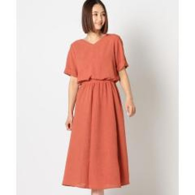 MEW'S REFINED CLOTHESバックリボンロングワンピース【お取り寄せ商品】