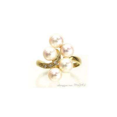 リング パール 指輪 あこや真珠パールリング k10ゴールド ダイヤモンド 冠婚葬祭 普段使い 母の日 早割