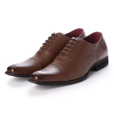 ジーノ Zeeno ビジネスシューズ メンズ 紳士靴 日本製 本革 ストレートチップ 内羽根 (D/Brown)
