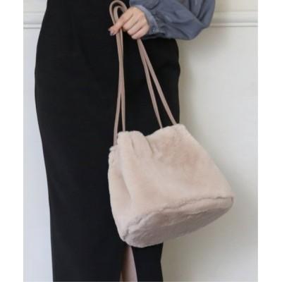 Ray Cassin / スモーキーカラーファーショルダートート WOMEN バッグ > ショルダーバッグ