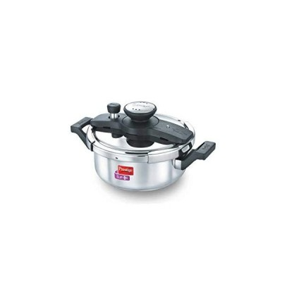 【全国送料無料】Prestige PRCO3SS Pressure Cooker Stainless Steel Cook And Serve Pot, Small, Silver