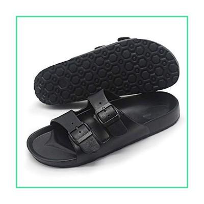 RUIRUIY-Flip-Flops Flip Flop Men EVA Non-Slip Outdoor Beach Flip Flops Summer Casual Open Toe Sandal (Color : Black, Shoe Size : 26.7CM-5pairs)