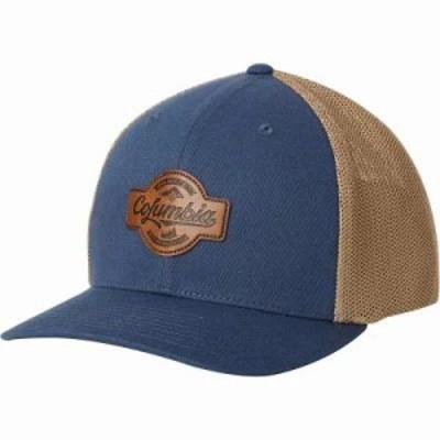 コロンビア その他帽子 Rugged Outdoor Mesh Hat Dark Mountain Bluff Leather Patch