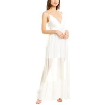 ニコルミラー レディース ワンピース トップス Nicole Miller Silk Gown ivory