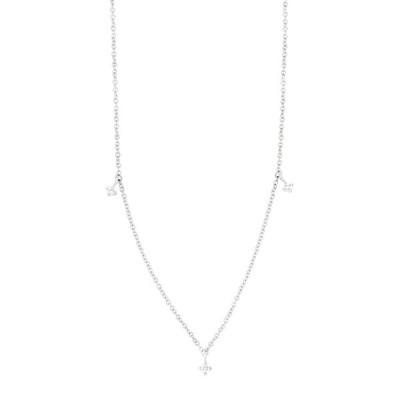 ボニー レヴィ レディース ネックレス・チョーカー・ペンダントトップ アクセサリー 18K White Gold Bardot Diamond Station Necklace - 0.08 ctw 18KW