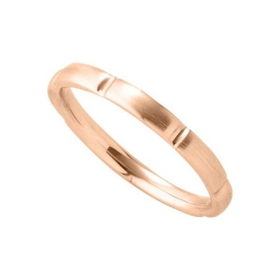 指輪 18金 ピンクゴールド シンプルモダンなデザインリング 幅2.3mm|K18PG 18k 貴金属 ジュエリー レディース メンズ