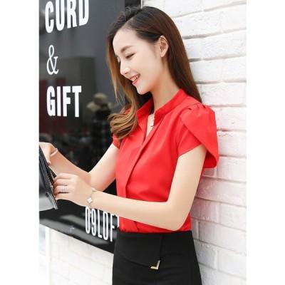 送料無料パフスリーブシャツ レディースオフィスおしゃれ白大きいサイズ長袖40代安いL003-0131