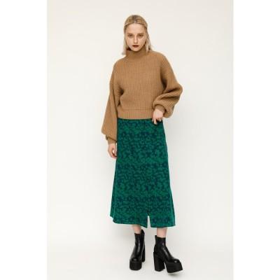 GEMMA FLOWER LONG スカート M/GRN7
