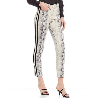 ジャンビニ レディース デニムパンツ ボトムス Fiona Snake Print Straight Leg Jeans