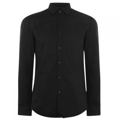 ヒューゴ ボス Hugo メンズ シャツ トップス Koey Poplin Shirt Black