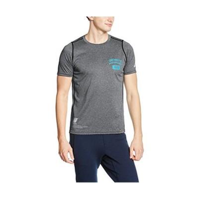 アシックス asics トレーニング半袖Tシャツ A77Tシャツ XA121N 90 ブラック杢 XL