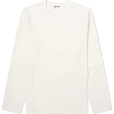 ジル サンダー Jil Sander メンズ 長袖Tシャツ トップス jil sander+ long sleeve tee Antique White
