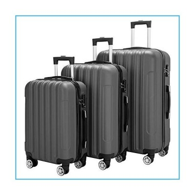 Henf 3 piece small,medium and large luggage set Traveling Storage Suitcase Luggage Light Weight with Spinner Wheels Suitcase Multi-color (Bl