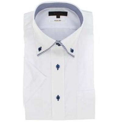 形態安定抗菌防臭レギュラーフィット マイタードゥエボタンダウン半袖シャツ