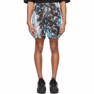 カンヒャク Kanghyuk メンズ ショートパンツ ボトムス・パンツ Multicolor Camo Airbag Shorts Multi/Blue