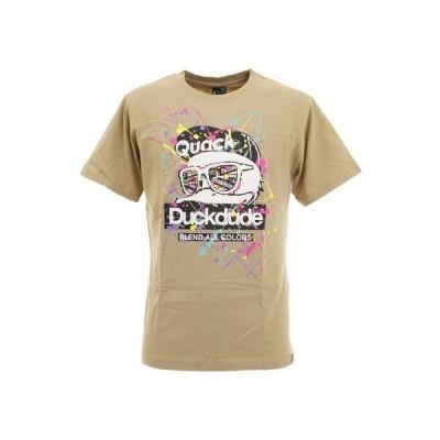 ビーワンソウル(B ONE SOUL) BOS DUCK DUDE スプラッシュ Tシャツ 0570034-BEI (メンズ)