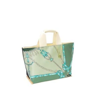 BASE / 日本製 プリント柄 シルク 本革 レディース トートバッグ WOMEN バッグ > トートバッグ