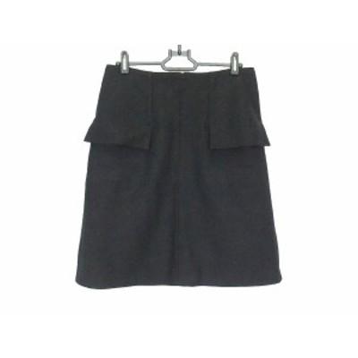 ダーマコレクション DAMAcollection スカート サイズ64 レディース - 黒 ひざ丈【中古】20200411
