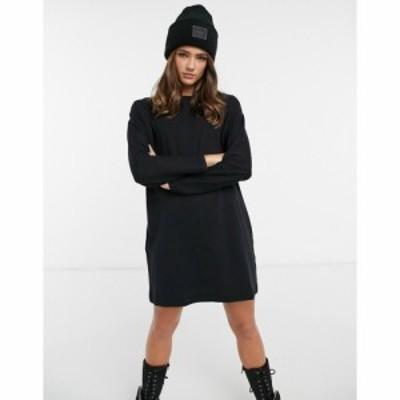 ミス セルフリッジ Miss Selfridge レディース ワンピース Tシャツワンピース シャツワンピース long sleeve t-shirt dress in black ブ
