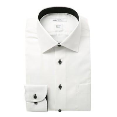 【SUPER EASY CARE】ワイドカラードレスシャツ 織柄 〔EC・FIT〕