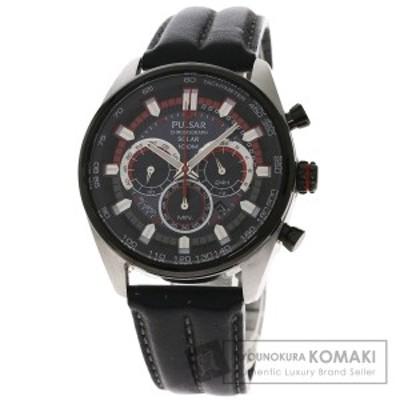 セイコー SEIKO VS75-X002  パルサー  腕時計 ステンレススチール 革   メンズ  中古