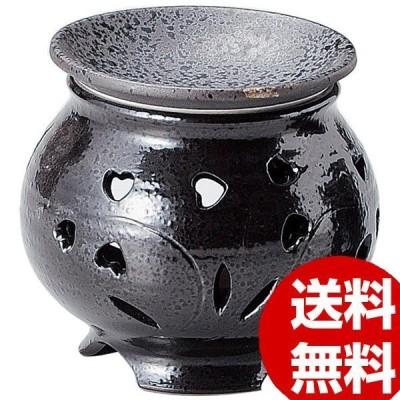 キャンドル式茶香炉 黒釉ハート Y-1601