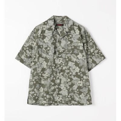 【トゥモローランド/TOMORROWLAND】 コットン ボタニカルプリントオープンカラーシャツ