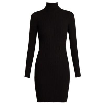 ウォルフォード Wolford レディース ワンピース ワンピース・ドレス Rib-knitted high-neck dress Black