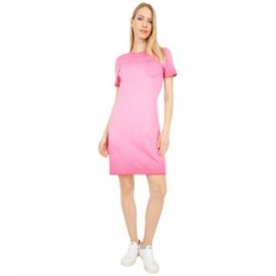 カルバンクライン レディース ワンピース トップス T-Shirt Dress with Front Pocket Lipstick