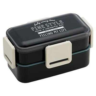 ふわっと弁当箱2段 PFLW9 ファインスタイル ブラック スケーター (分類:弁当箱・ランチボックス)