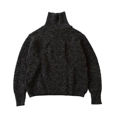 【SALE セール】 ブフト bukht RIB TTN KNIT charcoal bukhtBW16307