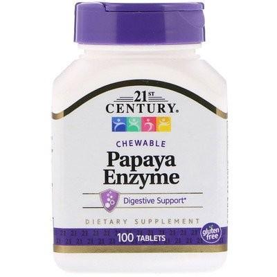 Papaya Enzyme、チュアブルタブレット、100粒