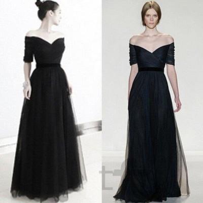 ロングドレス フォーマル 花嫁ウェディングドレス 演奏会 ウエディングドレス  パーティードレス  大きいサイズ  二次会 カラードレス黒