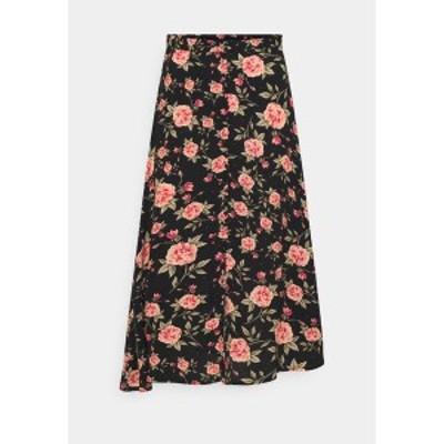 ヴィラ レディース スカート ボトムス VIKAMAS MEDI SKIRT - A-line skirt - black black