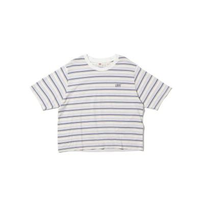 (Levi's/リーバイス)ボクシーTシャツ OPAL CLOUD DANCER STRIPE/レディース NEUTRALS